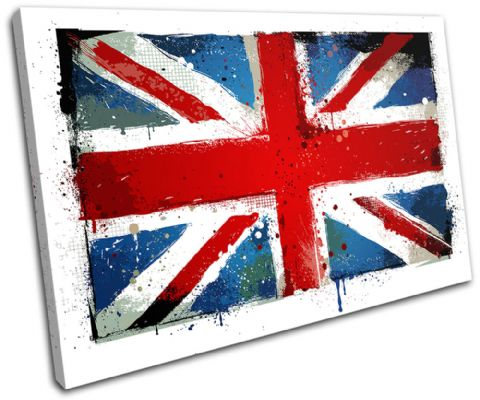 Union Jack Grunge Maps Flags - 13-0663(00B)-SG32-LO